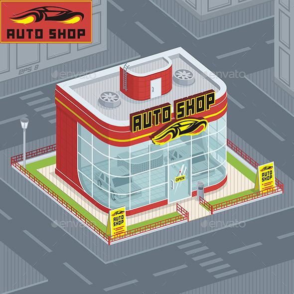 Auto Shop - Buildings Objects