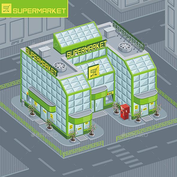 Supermarket - Buildings Objects