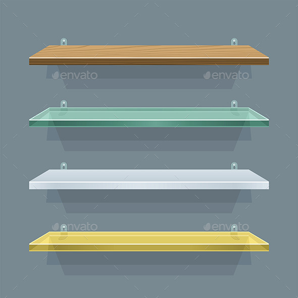 Shelves - Objects Vectors
