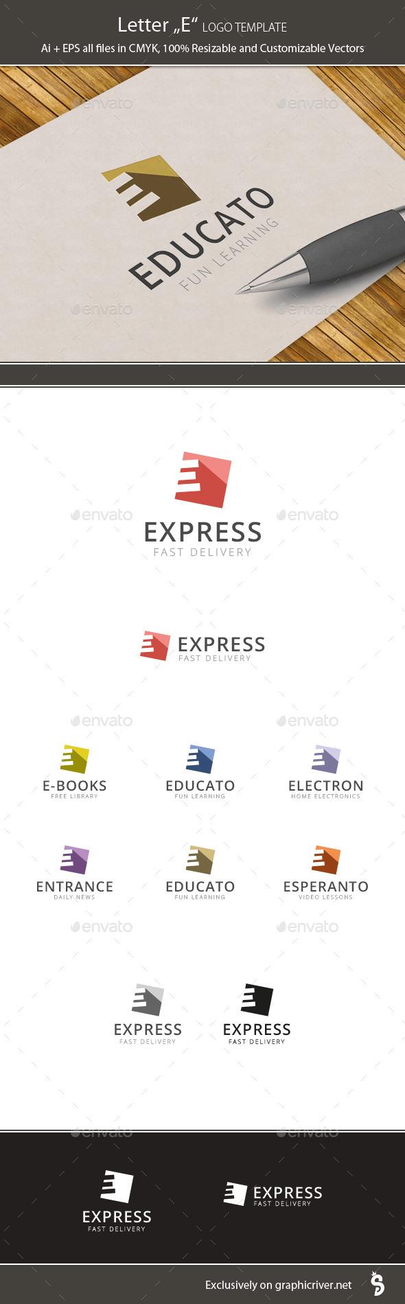 "Letter ""E"" - Logo Template - Letters Logo Templates"