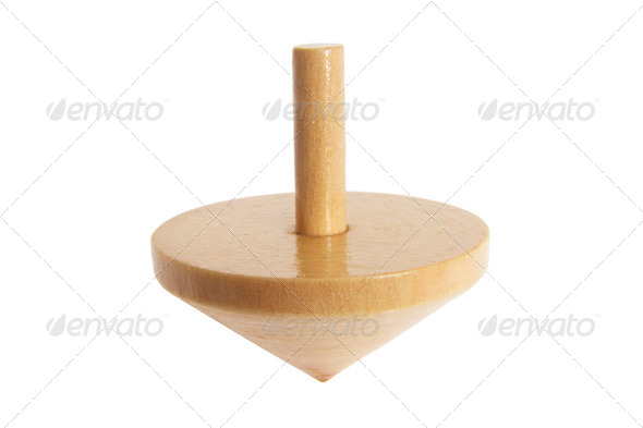 Wooden Top - Stock Photo - Images