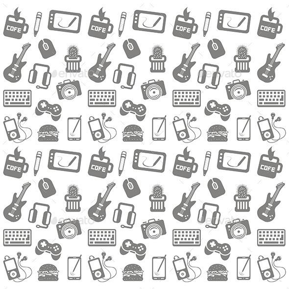 Web Icon Pattern - Web Technology