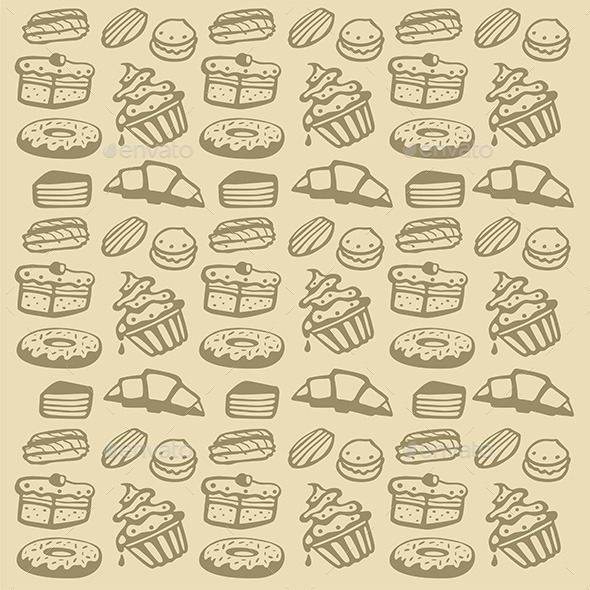 Cupcake Pattern - Food Objects
