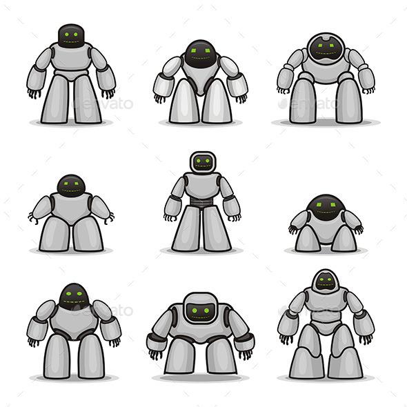Robots - Objects Vectors