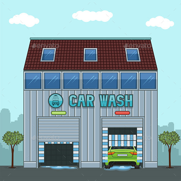 Car Wash - Buildings Objects
