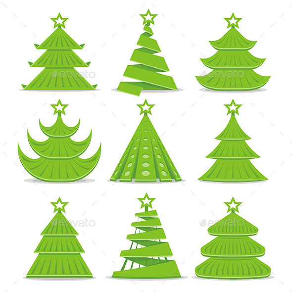 Christmas Trees Collection - Nature Conceptual