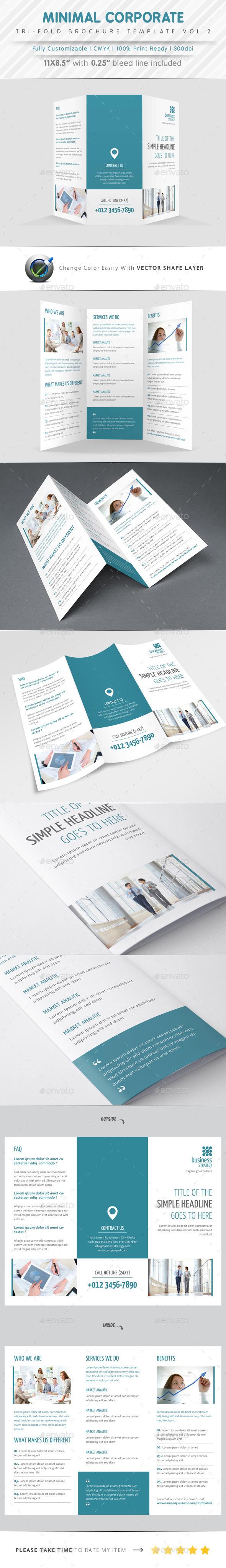 Minimal Tri Fold Vol.2 - Corporate Brochures
