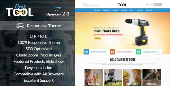 Tools – Opencart Responsive Theme