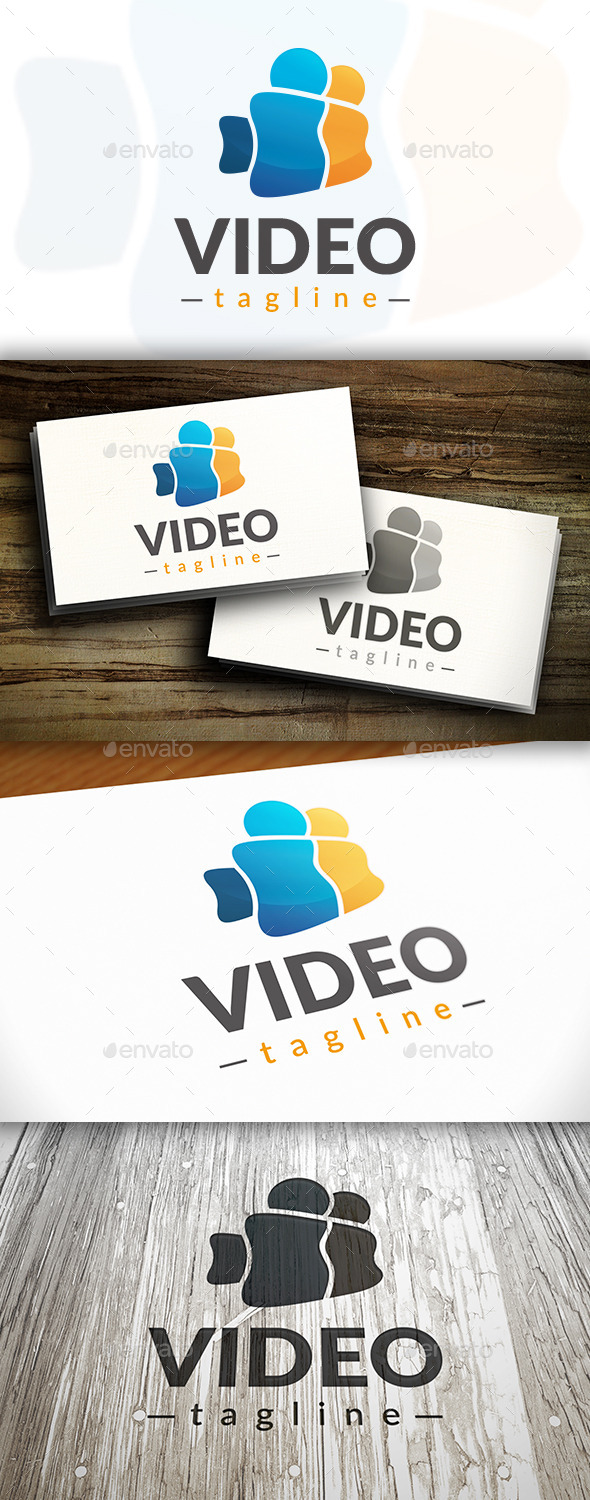 Video Social Logo - Humans Logo Templates