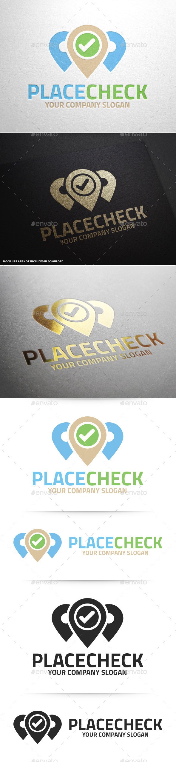 Place Check Logo Template - Symbols Logo Templates