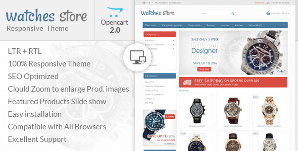 Watch Store – Opencart Responsive Theme
