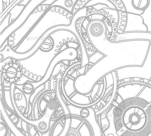 Gears Pattern - Vectors