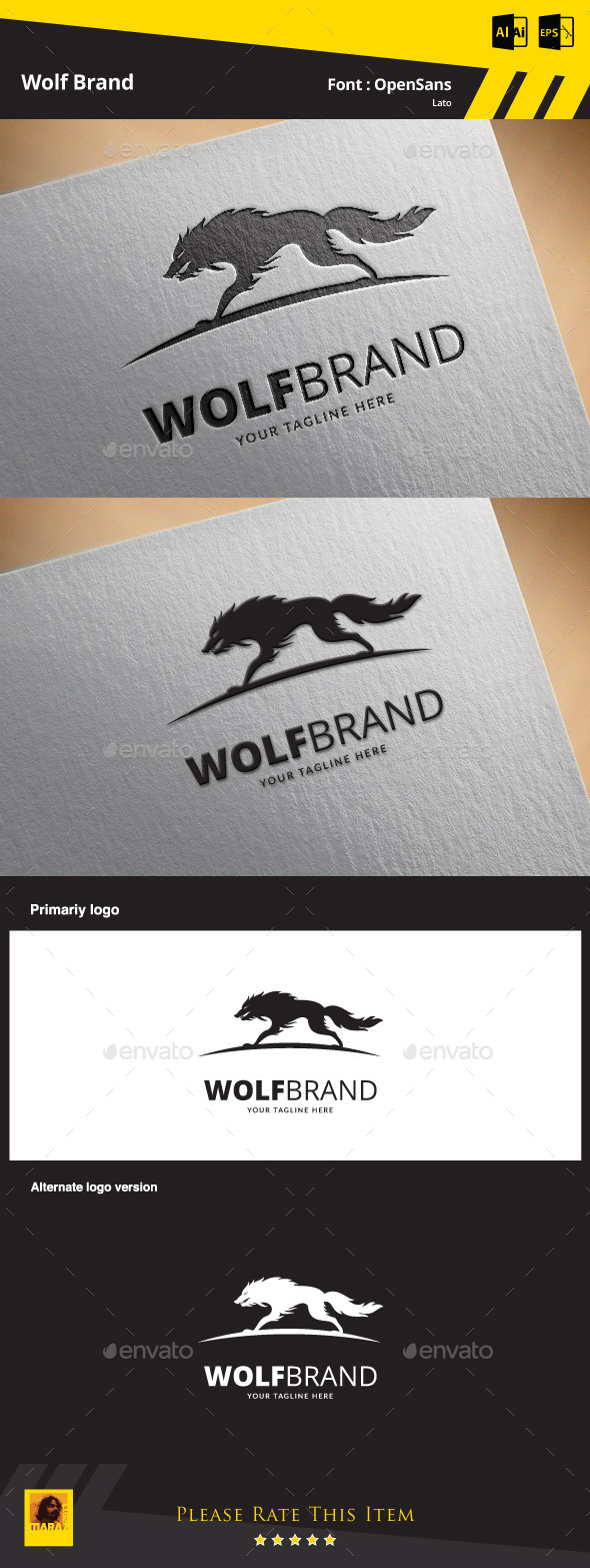 Wolf Brand Logo Template - Animals Logo Templates