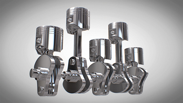 Car Engine Piston - 3DOcean Item for Sale
