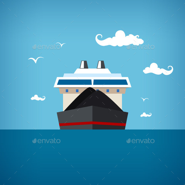 Dry Cargo Ship - Industries Business