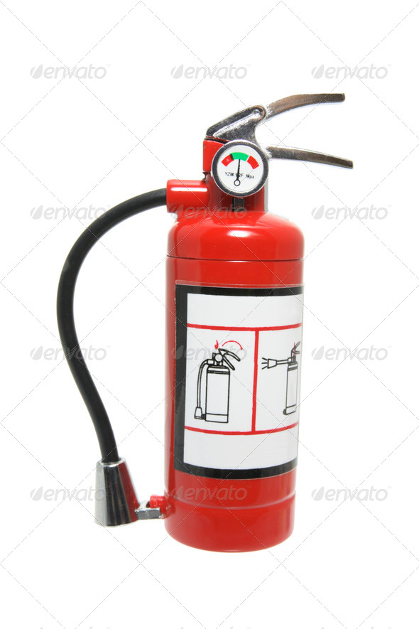 Miniature Fire Extinguisher - Stock Photo - Images