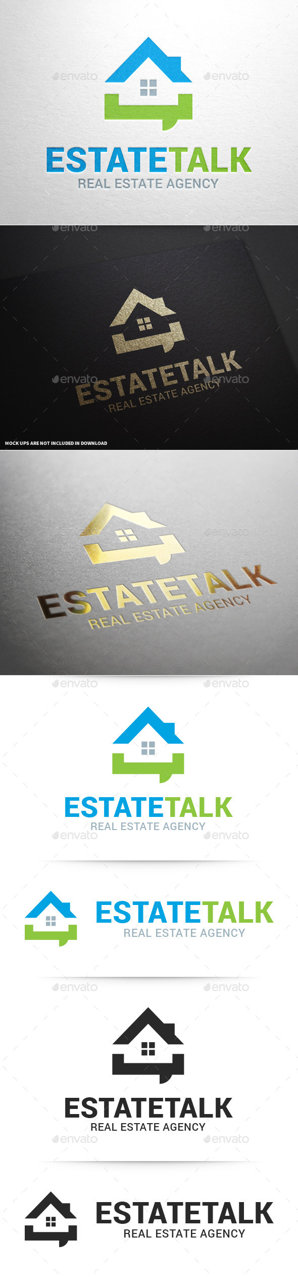 Real Estate Talk Logo Template - Buildings Logo Templates