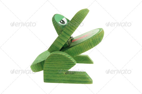 Wooden Frog - Stock Photo - Images