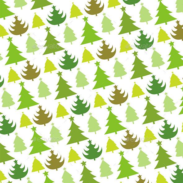 Christmas Tree Seamless Pattern - New Year Seasons/Holidays