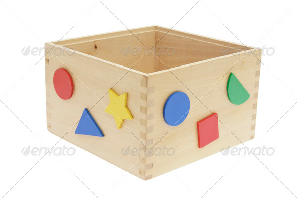 Wooden Toy Box - Stock Photo - Images