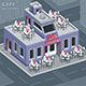 Facade Valentine Cafe - GraphicRiver Item for Sale