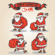 4 Santa Characters - GraphicRiver Item for Sale