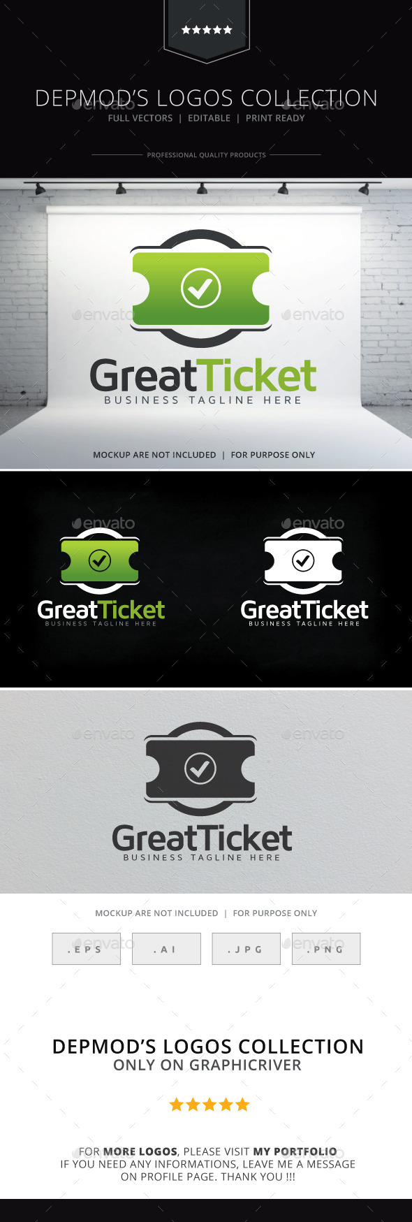 Great Ticket Logo - Objects Logo Templates