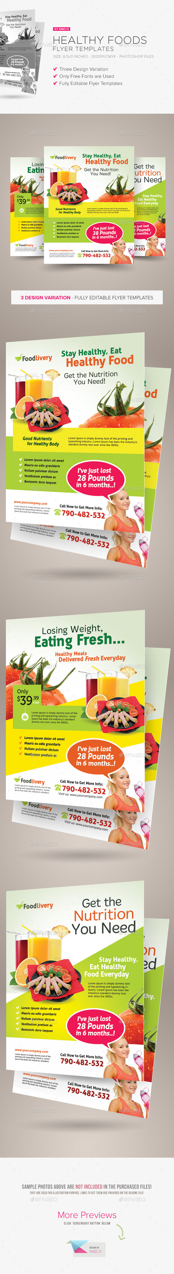 Healthy Food Flyer Templates - Corporate Flyers