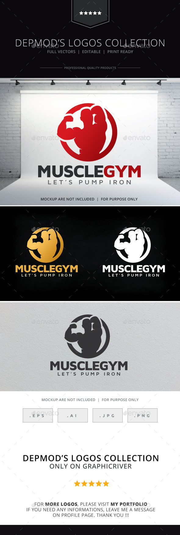 Muscle Gym Logo - Humans Logo Templates