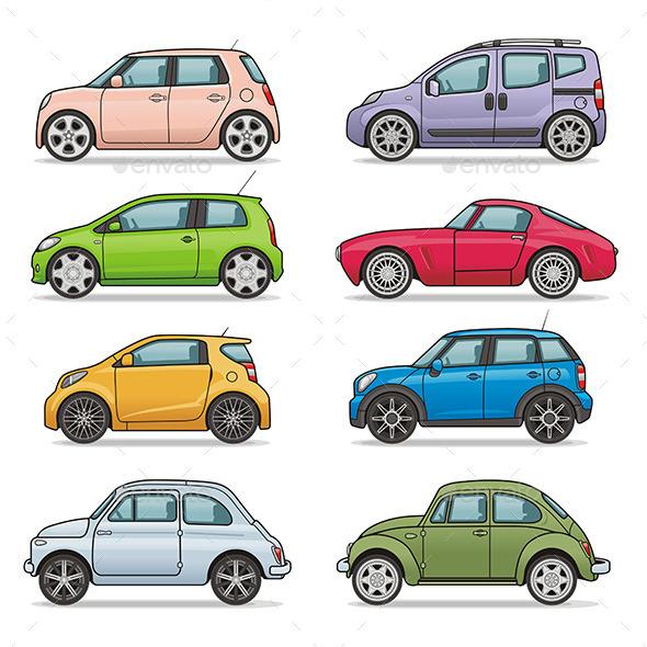 Car Set - Vectors