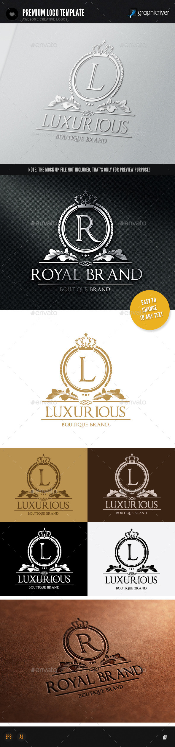 Luxurious Brand - Crests Logo Templates