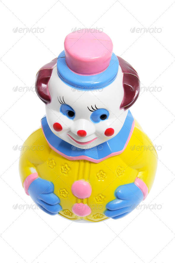Roly Poly Toy Clown - Stock Photo - Images
