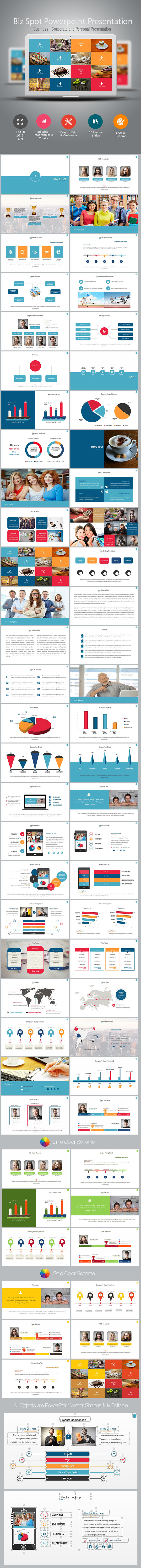 Biz Spot Power Point Presentation - PowerPoint Templates Presentation Templates