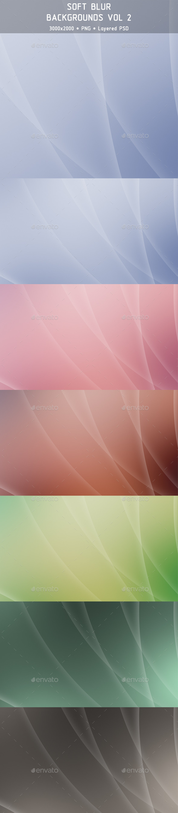 Soft Blur Backgrounds Vol 2 - Backgrounds Graphics