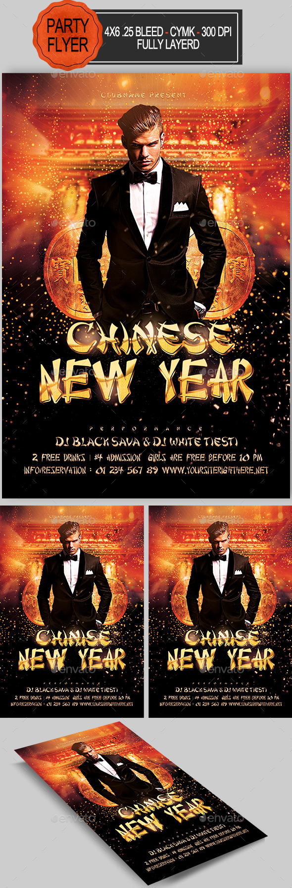 Chinese New Year Party Flyer   - Holidays Events