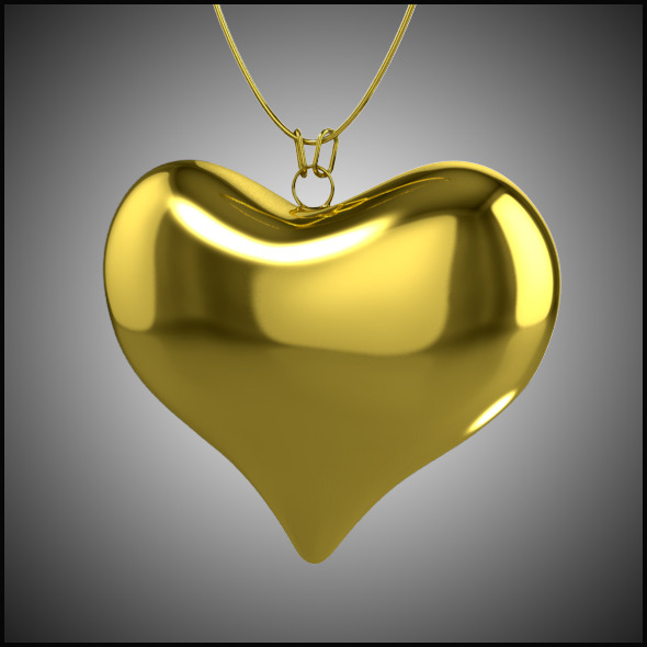 Heart Necklace - 3DOcean Item for Sale