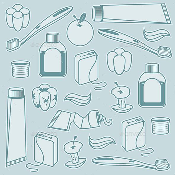 Dental Pattern - Objects Vectors