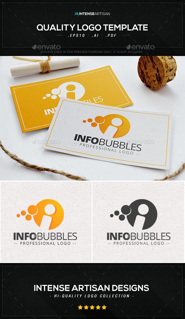 Info Bubbles Logo Template - Letters Logo Templates
