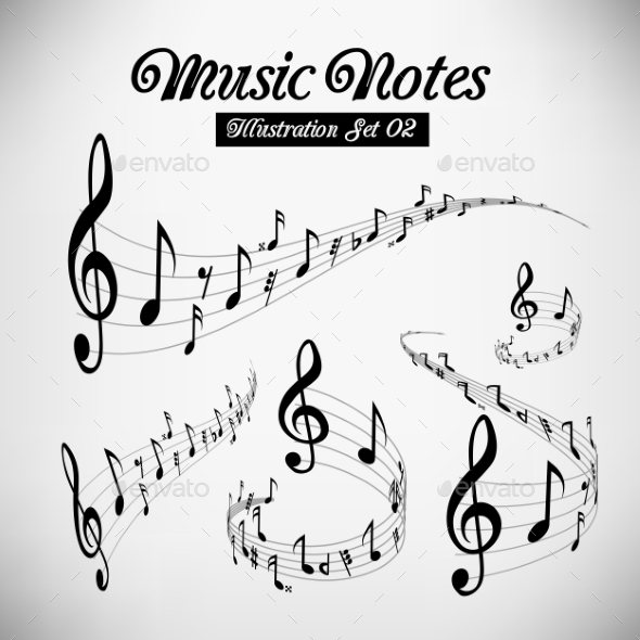 Musical Staves - Backgrounds Decorative
