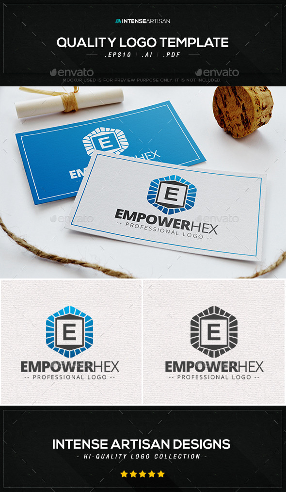 Empower Hex Logo Template - Letters Logo Templates
