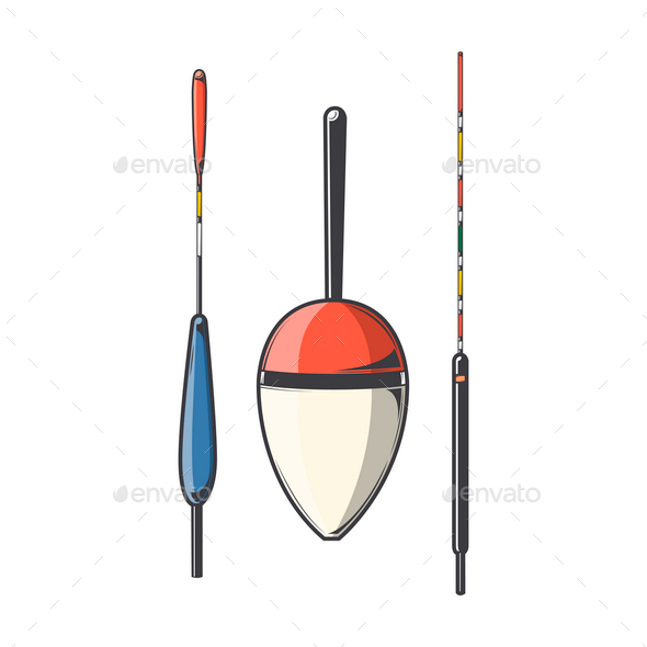 Set of Fishing Floats - Miscellaneous Vectors