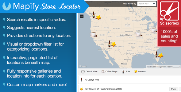 Google Maps Store Locator For WordPress - CodeCanyon Item for Sale