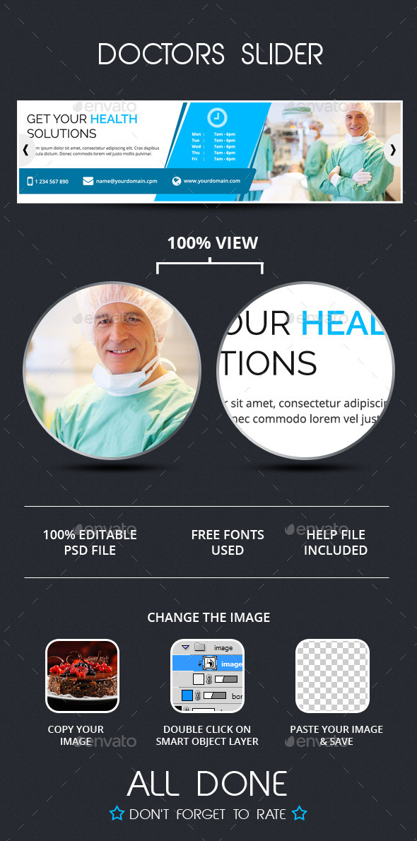 Doctors Slider Template - Sliders & Features Web Elements