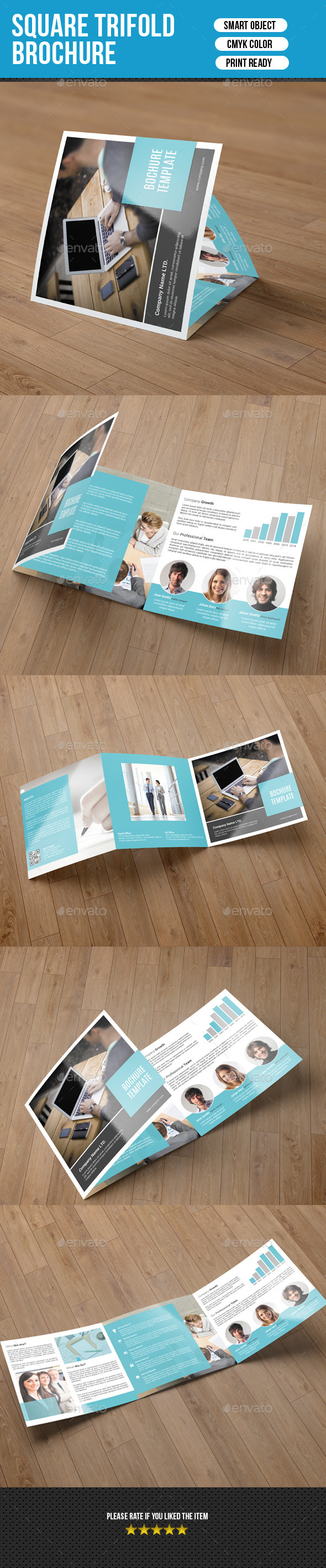 Corporate Square Trifold Brochure-V55 - Corporate Brochures