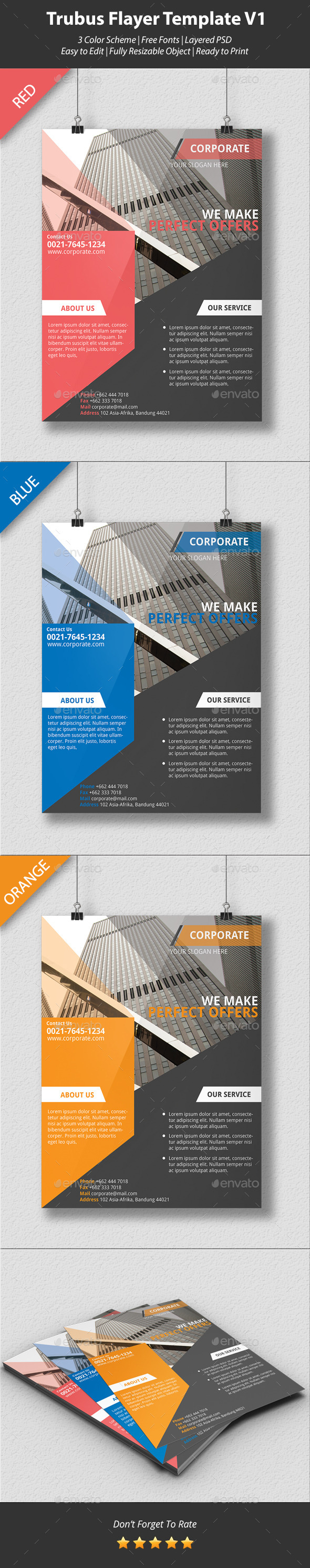 Trubus Flyer Template V1 - Corporate Flyers