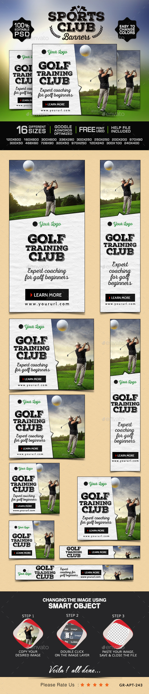 Golf Club Banners - Banners & Ads Web Elements