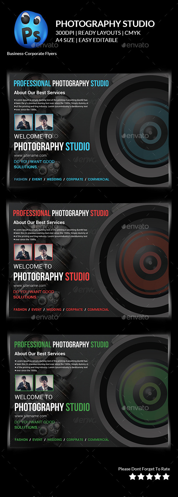 Photography Studio Flyer Templates  - Corporate Flyers
