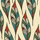 Seamless Pattern with Bright Feathers - GraphicRiver Item for Sale