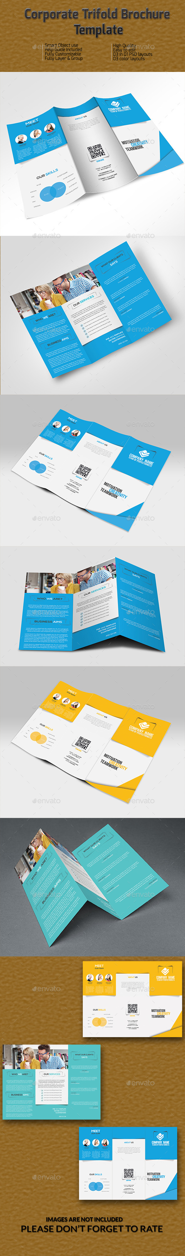 Corporate Trifold Brochure Template - Brochures Print Templates