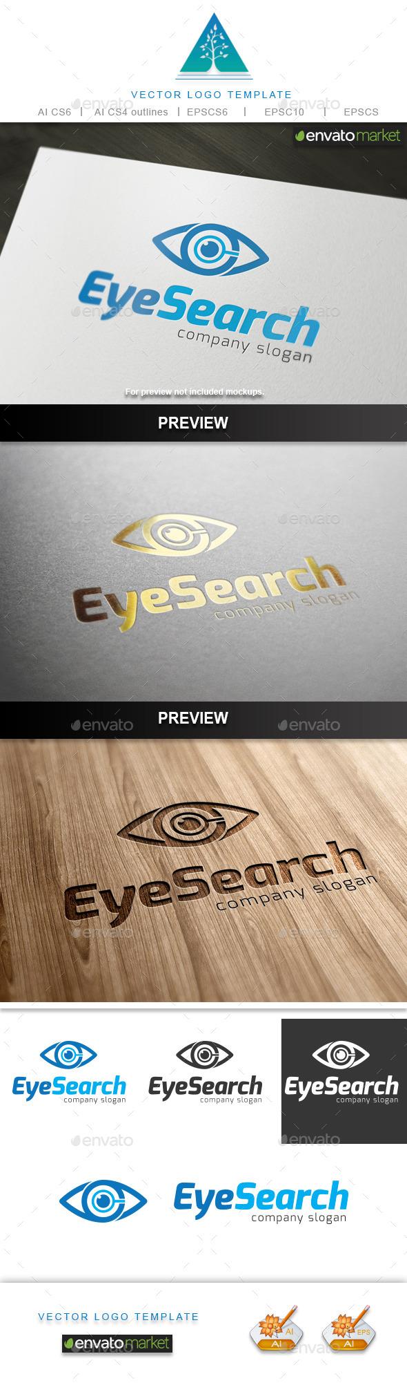 Eye Search Logo - Symbols Logo Templates